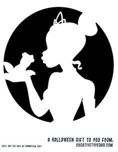 Silhouette Tiana and the frog pumpkin carving Disney Pumpkin Stencils, Disney Pumpkin Carving, Pumpkin Carving Templates, Pumpkin Carvings, Pumpkin Template, Pumpkin Art, Pumpkin Ideas, Princesa Tiana, Deco Disney