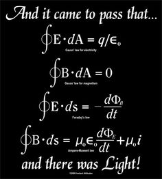James Clark Maxwells 4 equations form the foundation of classical electrodynamics, classical optics, and electric circuits.