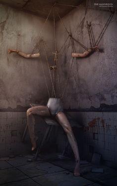 The Mannequin by ~Destr3ga  Creepy | Art | Photography | Weird | Bizarre | Strange | Evil | Dark Art | Death | Crime | Blood | Inhumane