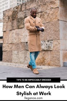 Not sure how to look stylish at work all the time? Click this article on LLEGANCE now to find out how to look put-together! Mens Winter Suits, Winter Outfits Men, Great Mens Fashion, Mens Fashion Suits, Fashion Menswear, Smart Casual Outfit, Men Casual, Workwear Fashion, Men's Fashion