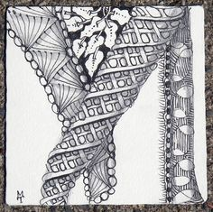zentangle borders | In this next tile, notice how static meanders - almost as if there was ...