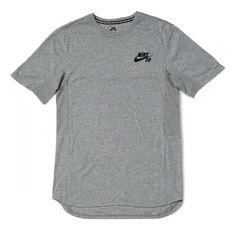 Nike SB Skyline T-Shirt - Dark Heather Grey/Black ($45) ❤ liked on Polyvore featuring nike