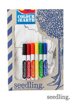 A fun and educational way for kids to learn about our planet Earth! Colour the Earth by www.seedling.com