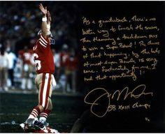 Joe Montana Handwritten/Signed SB XXIII Drive Story 16x20 Photo (LE/16) Steiner