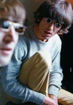 pinterest george harrison and john lennon | John Lennon & George Harrison