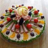Fruit and Liverwurst Sandwich Cake from Kindergarten Chef