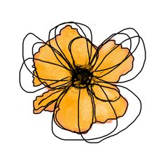 Watercolor Flowers, Watercolor Paintings, Watercolour, Abstract Line Art, Minimalist Art, Doodle Art, Art Inspo, Painting & Drawing, Flower Art