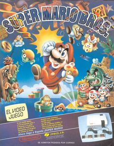 Super Mario Brothers, Super Mario Bros, Super Nintendo, Scooby Doo Toys, Shigeru Miyamoto, Game Gui, Video Game Posters, Classic Video Games, School Games