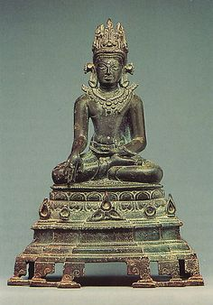 Seated, Crowned & Jeweled Buddha 10th Century Bronze  --  India  --  Metropolitan Museum Of Art