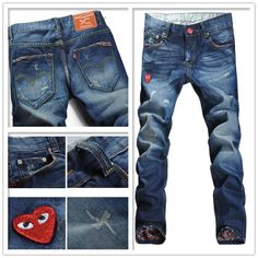 $24.88 Straight Leg Broken Hole Design Jeans | Men Pants ...