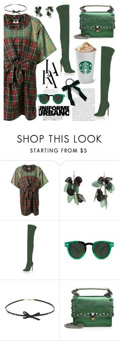 """""""Knee High Long Boots"""" by fsjamazon ❤ liked on Polyvore featuring Junya Watanabe Comme des Garçons, Lara, Marni, Spitfire, Forever 21, Fendi and J.Crew"""