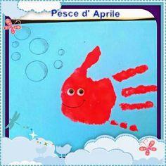 Pesce d' Aprile... dipingiamo con le mani