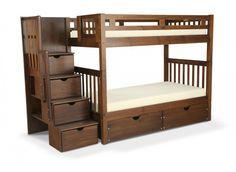 Colorado Stairway Bunk Bed With Bob-O-Pedic Twin Mattress   Kids Bunk Beds   Kids Furniture   Bob's Discount Furniture