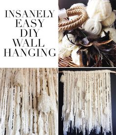 An Easy Boho DIY Wall Hanging Easy DIY wall hanging project. This is a gorgeous, showstopper piece that anyone can make. Yarn Wall Art, Yarn Wall Hanging, Diy Wall Art, Wall Hangings, Art Yarn, Diy Y Manualidades, Do It Yourself Inspiration, Diy Art Projects, Diy Projects With Yarn