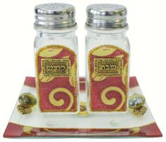 Lily Art Glass Salt and Pepper Shaker Set - Burgundy by Lily series. $44.99. Lily Art