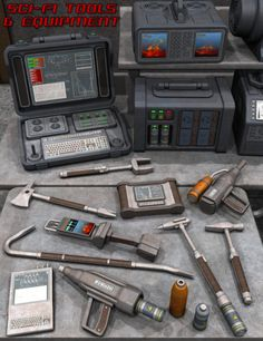 Sci Fi Tools and Equipment in Vendor, Nightshift3D,  3D Models by Daz 3D