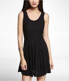 Express Womens Lace Skater Dress Pitch Black, Medium $59.90
