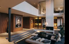 Wonderful living room s interior design Home Room Design, Dream Home Design, Interior Design Living Room, Modern Villa Design, Modern Interior Design, Luxury Interior, Interior Architecture, House Rooms, New Homes
