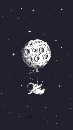 Break the ice. Ink Drawings Mostly in Space. Click the image, for more art by Mon Lee. Wallpaper Space, Black Wallpaper, Screen Wallpaper, Iphone Wallpaper, Cute Galaxy Wallpaper, Space Drawings, Art Drawings, Home Bild, Astronaut Wallpaper