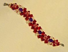 Free pattern for bracelet Palermo Click on link to get pattern - http://beadsmagic.com/?p=4743