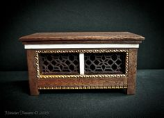 Miniature Cassone or wedding chest all made from reclaimed timber.