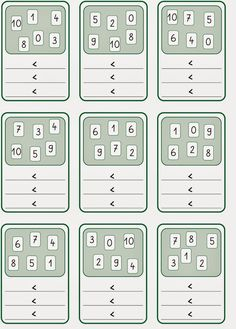 Lernstübchen: größer - kleiner 1st Grade Math, Kindergarten Math, Teaching Math, First Grade, Primary Maths, Primary School, Maths Puzzles, Activities For Kids, Numicon