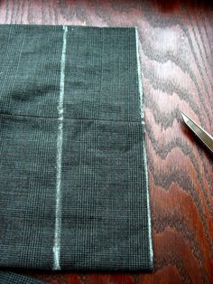 Altering a man's suit part 4 - Hemming the dress pants