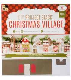 Create your own paper Christmas village with this kit from DCWV!
