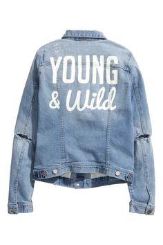 Veste en jean avec impression | H&M
