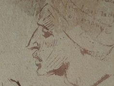 CHASSERIAU Théodore,1846 - Arabes - drawing - Détail 08 - Visage mélancolique, de profil - Melancholic face, in profil -