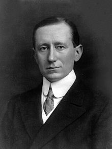 """Guglielmo Marconi - 25 April 1874 – 20 July 1937) was an Italian inventor, known as the father of long distance radio transmission[1] and for his development of Marconi's law and a radio telegraph system. Marconi is often credited as the inventor of radio, and he shared the 1909 Nobel Prize in Physics with Karl Ferdinand Braun """"in recognition of their contributions to the development of wireless telegraphy""""."""