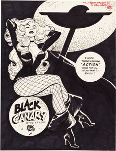 This man's work is a constant inspiration.   tothlove:  Black Canary (original), Alex Toth