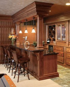 I would love to have a half wall/bar to separate the kitchen from the family room.
