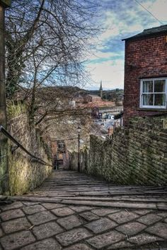 The top of the 108 steps, Macclesfield, Cheshire. UK