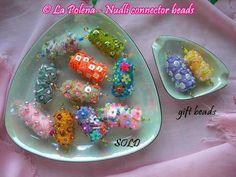 ARTISAN BEADS Type F Nudli beads by La Polena made to by LaPolena