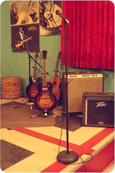 Music Room: Guitars, amps, cords