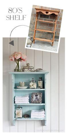 Shelf gets an update from confessionsofaser - upcycling möbel - Furniture Refurbished Furniture, Paint Furniture, Repurposed Furniture, Shabby Chic Furniture, Furniture Projects, Furniture Making, Furniture Makeover, Cool Furniture, Furniture Online