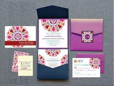 Indian Wedding Invitations | 12 Colorful and Detailed Invitations - KnotsVilla