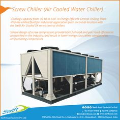 Screw Chiller (Air Cooled Water Chiller)  #ScrewChiller  #ScrewChillerManufacturerinAhmedabad #ScrewChillerSuppliersinAhmedabad #ScrewChillerTradersinAhmedabad #ScrewChillerExportersinAhmedabad  W:http://www.swiftauxi.com/