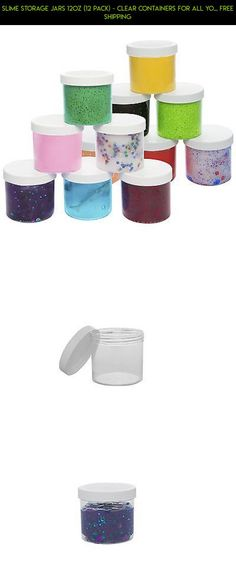 Slime Storage Containers Jars 12 Pack Set 12 Oz Clear Jars Glue Putty Making New Storage Jars, Storage Containers, Slime Containers, Sliming World, Slime Shops, Glitter Slime, Things To Buy, Diy And Crafts, Racing