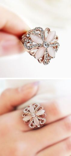 Coral Blossom Ring ♥: