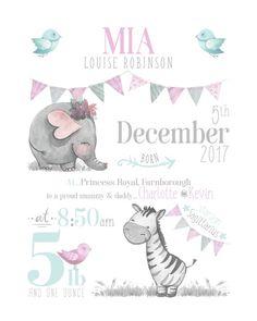 Newborn Baby Gifts, Baby Boy Gifts, Christening Gifts For Boys, Boy Christening, Safari Nursery, Nursery Wall Art, Nursery Prints, Nursery Decor, Bebe Vector