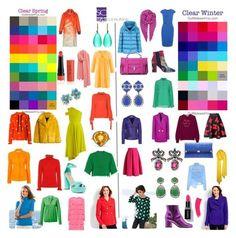"""Verschil tussen de heldere lente en de heldere winter. Differences between clear spring and clear winter."" By Margriet Roorda-Faber, Style Consulting."