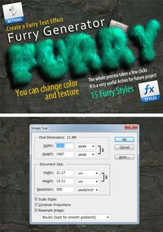Buy Furry Generator by on GraphicRiver. Furry Generator It's furry styles that can be easily applied to the text, various shapes and brushes. Photoshop Text Effects, Best Photoshop Actions, Photoshop Tips, Photoshop Design, Photoshop Brushes, Photoshop Tutorial, Photoshop For Photographers, Photoshop Photography, Layer Style