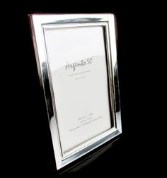 Argento SC Thin Border Sterling Silver Picture Frame 8 Italian, 4  x 6 NEW #ArgentoSC
