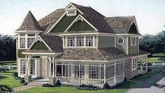 : Victorian Style House Plan 95686 with 3 Bed, 3 Bath, 2 Car Garage Elevation of Country Farmhouse Victorian House Plan 95686 House Plans 3 Bedroom, Dream House Plans, House Floor Plans, My Dream Home, Dream Homes, Victorian House Plans, Victorian Style Homes, Victorian Bedroom, Farmhouse Plans