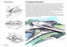 A shopping mall project on Behance Conceptual Architecture, Architecture Concept Drawings, Architecture Building Design, Concrete Architecture, Architecture Portfolio, Modern Architecture, Shopping Mall Architecture, Shopping Mall Interior, Shoping Mall