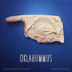 Oklahummus... Part of The Foodnited States. 40/50.
