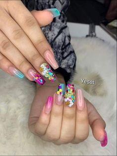 Edgy Nails, Hot Nails, Hair And Nails, Nail Swag, Best Acrylic Nails, Acrylic Nail Designs, Fruit Nail Art, Diva Nails, Luxury Nails