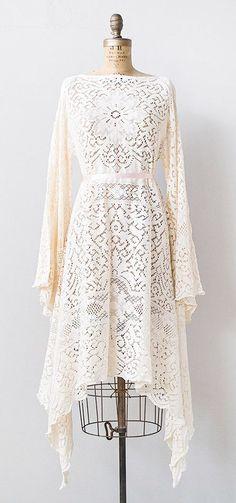 Vintage Pale Pink Lace Wedding Dress Bridal Gown for a Boho Bride